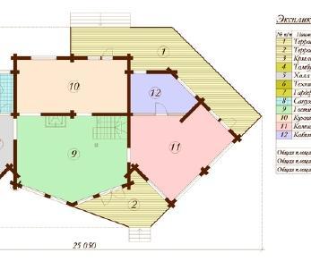 Проект дома Проект дома из клееного бруса «Барселона», 290.26 м2