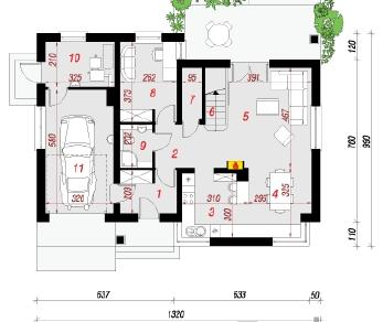 Проект   Дом в спатифиллуме, 167.7 м2