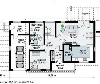 Проект дома Проект zx6, 192 м2