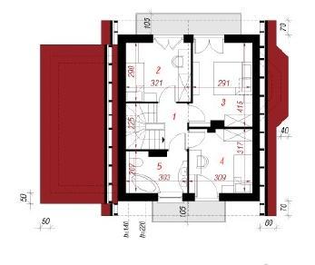 Проект  Дом в винограде (Г), 98 м2
