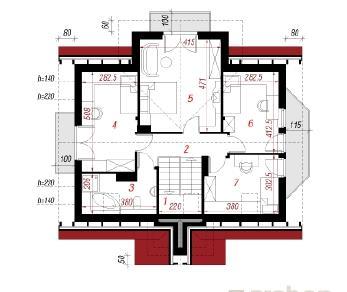 Проект  Дом в шафране, 198.5 м2