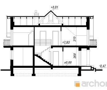 Проект  Дом а альпиниях, 192.6 м2