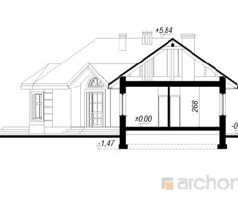 Проект  Дом в пустырнике, 110.6 м2