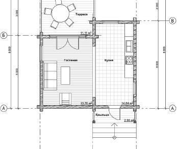 Проект дома Народный 4, 44.1 м2