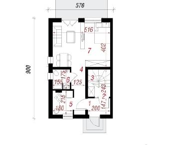Проект  Дом под миндальным деревом 2, 116.1 м2