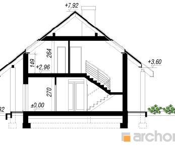 Проект  Дом в вистерии 2 (W), 124.53 м2