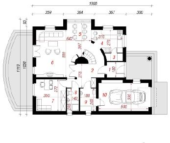 Проект  Дом в крыжовнике, 174.3 м2