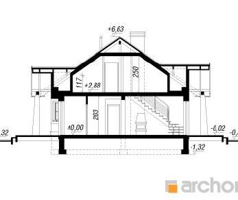 Проект  Дом в базилике, 125 м2