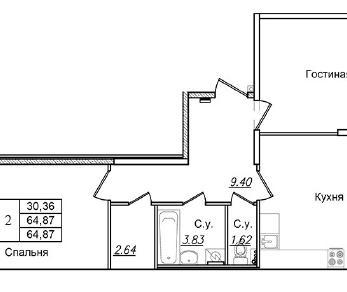 Продажа квартиры Колпино, Загородная ул., д.44