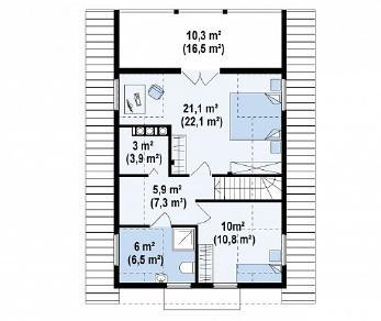 Проект дома Проект Z30, 108.3 м2