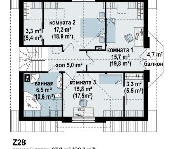 Проект дома Проект z28, 168.7 м2