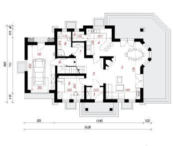 Проект  Дом в левкоях 2(П), 296.4 м2