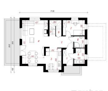 Проект  Дом в горошке , 127.6 м2