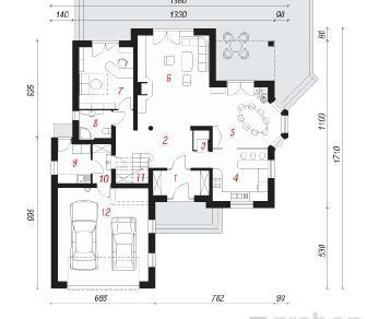 Проект  Дом под секвоей , 257.3 м2