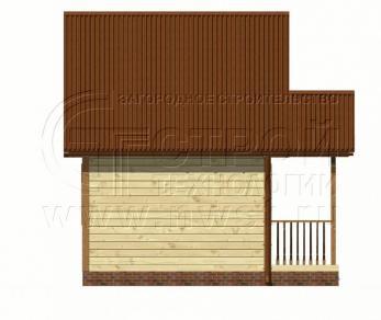 Проект дома Проект дома №62, 23 м2