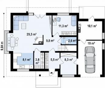 Проект дома Проект z189, 182.6 м2