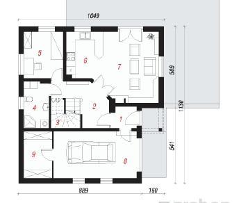Проект  Дом в пупавках 2, 129.6 м2