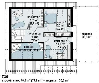 Проект дома Проект z36, 186.9 м2
