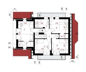 Проект  Дом в перловнике 2, 132.4 м2