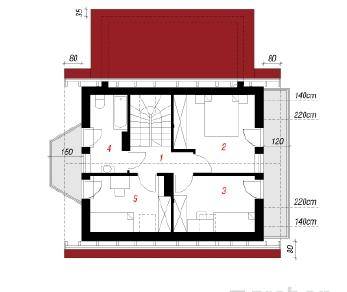 Проект  Дом у ручья 2, 98.4 м2