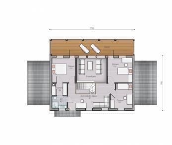 Проект  Проект деревянного коттеджа Alder 186, 228 м2