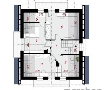 Проект  Дом в рододендронах 5 (WН), 123.25 м2