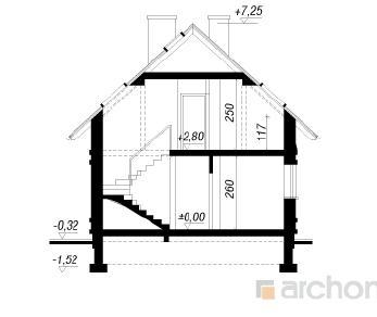 Проект  Дом у ручья, 84.8 м2