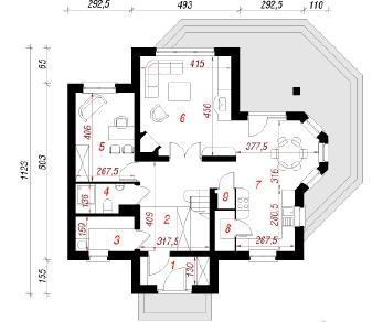 Проект  Дом в шафране 3, 132.7 м2