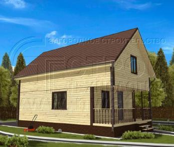 Проект дома Проект дома №99, 57 м2