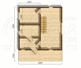 Проект дома Проект дома №17, 45 м2