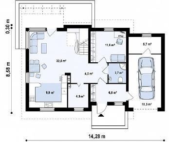 Проект дома Проект Z127, 167.7 м2