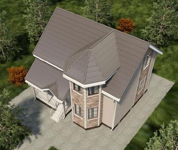 Проект дома Лаваль, 100 м2
