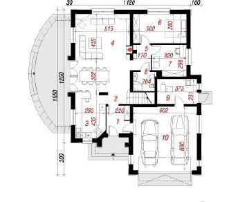 Проект  Дом в дурмане, 241.2 м2
