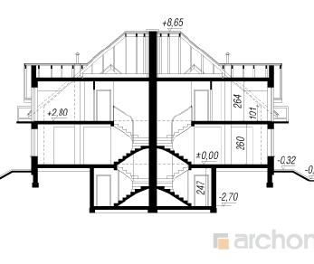 Проект  Дом под тисами, 160.8 м2