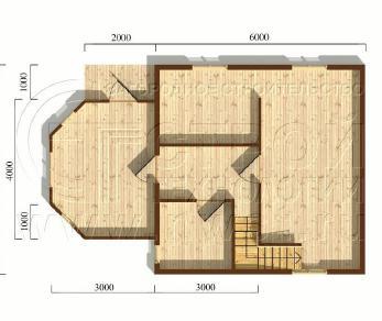 Проект дома Проект дома №41, 49 м2