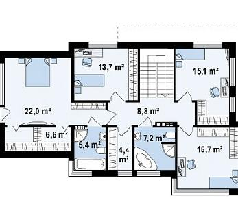 Проект дома Проект Zx114, 210.3 м2