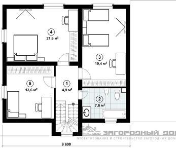 Проект дома Бужарово-3, 167 м2