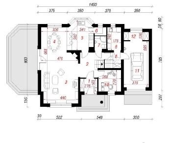 Проект  Дом в барвинке, 181.2 м2