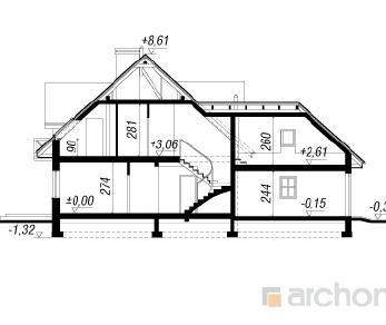 Проект  Дом под даглезией, 224 м2