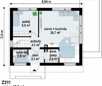 Проект дома Проект z211, 94.6 м2