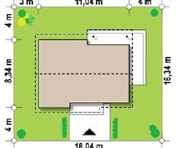 Проект дома Проект Z262, 66.7 м2