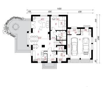 Проект  Дом в орегано, 239.9 м2