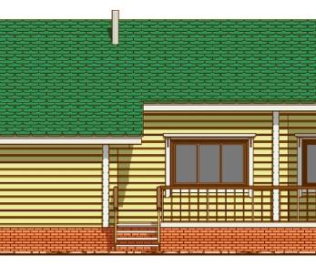 Проект дома Проект дома из клееного бруса «Лахти», 115.9 м2