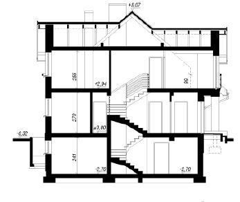 Проект  Дом в аспарагусах (ПН), 244.5 м2