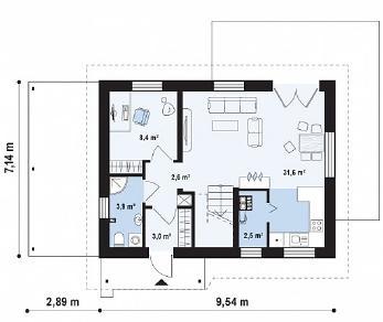 Проект дома Проект Z216, 99.7 м2
