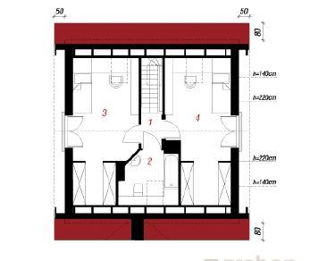 Проект  Дом Миниатюрка, 82.2 м2