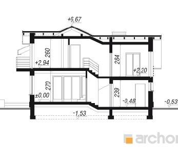 Проект  Дом в буддлеях, 158.2 м2