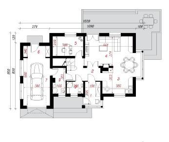 Проект  Дом в пассифлоре, 157.1 м2