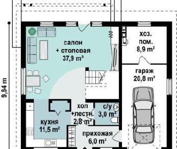 Проект дома Проект z119, 176.7 м2