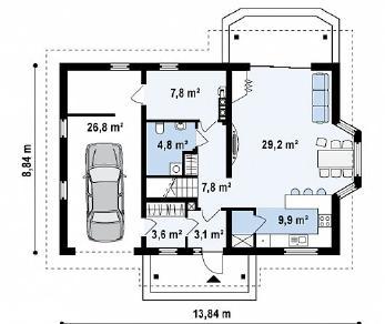 Проект дома Проект Z178, 178.4 м2